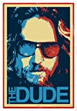 Close Up The Big Lebowski Poster The Dude (94x63,5 cm) gerahmt in: Rahmen rot