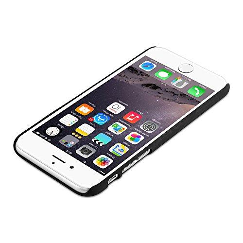 Cadorabo - Hard Cover Slim Case Design BOIS Coque Gel (silicone) pour Apple iPhone 6 / 6S - Housse Case Cover Bumper en WODDY-NOIR WOODY-ROUGE