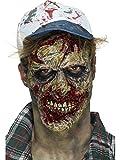 Smifis Kostüm Zubehör Zombie Gesicht Maske Halloween