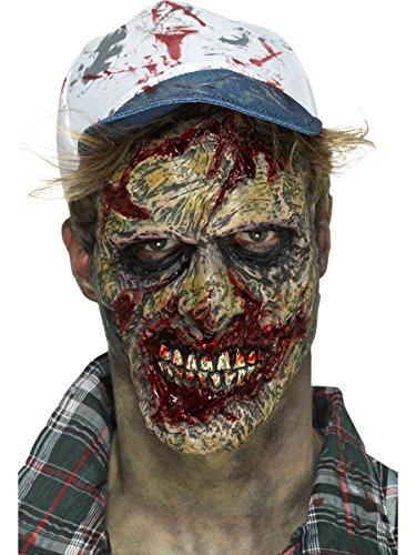 Smiffys Kostüm Zubehör Zombie Gesicht Maske Halloween (Zombie Halloween, Maske)
