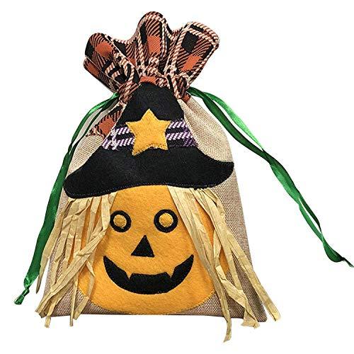 Halloween Süßigkeitstaschen, Halloween Geschenktüte, Weihnachtsgeschenktüte, Kreative Halloween Kürbis Kordelzug, Ghost Kids Süßes oder Saures Süßigkeitstaschen, Kordelzug, Halloween Kinder Spielzeug