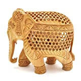 Ecraftworld Pinkcity Jaipur Rajasthani Designer Tradtional Unique and antique showpiece,handicraft for gift / home decoration Preciosly Handcrafted Jaali Elephant inside Elephant 5 inch 1023