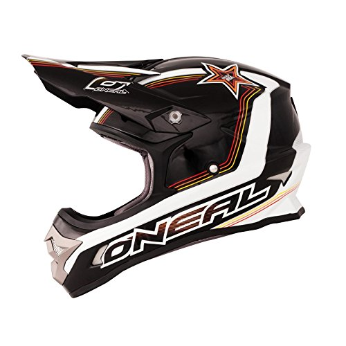 O'neal 3 Series Star Motocross Enduro MTB Casco schwarz/blanco/amarill
