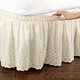 Best Collections Etc Bed Skirts - Eyelet Bedskirt Ruffle, Ivory, Queen/King by Collections ETC Review
