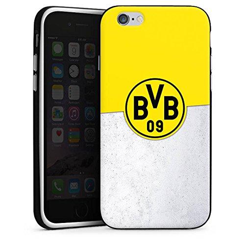 Apple iPhone X Silikon Hülle Case Schutzhülle Borussia Dortmund Fanartikel BVB Silikon Case schwarz / weiß