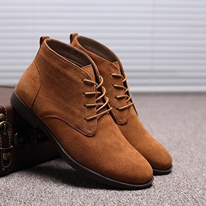 HL-PYL-Martin botas, cálida y Anti Cachemir Botas de hombres,38,amarillo