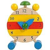 Amlaiworld Handgemachte hölzerne Uhr Spielzeug für Kinder Stechuhr Lernspielzeug lernen