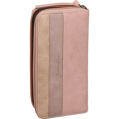 Tamaris Damen Khema Big Zip Around Wallet Geldbörse, Pink (Rose Comb.), 2x10x19,5 cm (Logo Zip Wallet Around)