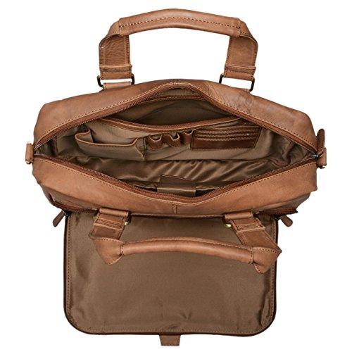 9aed4a3684 ... STILORD 'Jon' Borsa lavoro uomo in vera pelle vintage Grande borsa a tracolla  Cartella ...