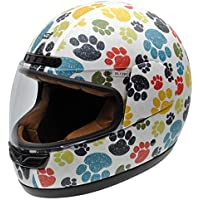 NZI 050323G707 Activy Junior Pawprints Casco De Moto, Multicolor, Talla 54 (XS)