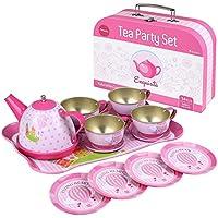 Peradix Giocattoli Cucina Bambini Servizio da Tè (14 Pezzi - Ferro)
