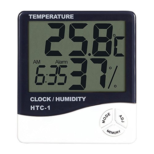Homdox Digital Thermometer Hygrometer Digital Funkthermomete Digitalthermometer, 2 Stück