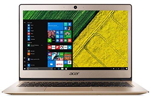 "Acer Swift 1 SF113-31-P09K Notebook con Processore Intel Pentium Quad Core N4200, Ram da 4 GB DDR3, 64 GB eMMC, Display da 13"" FHD IPS LED LCD, Scheda grafica Intel HD 505, Windows 10 Home, Oro"
