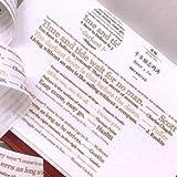 LDSEHUN Washi Tapes Retro Papierband Alphabet digital Schwarz weißes Handband, J3cmx7m