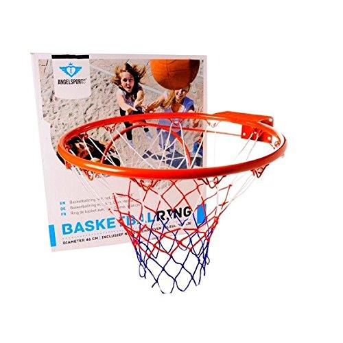 Angel Sports Anello da Basket con Rete 46 Cm