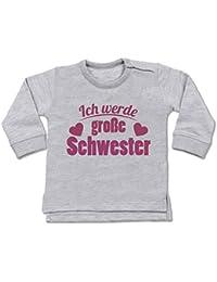 Shirtracer Geschwisterliebe Baby - Ich werde große Schwester - Baby Pullover
