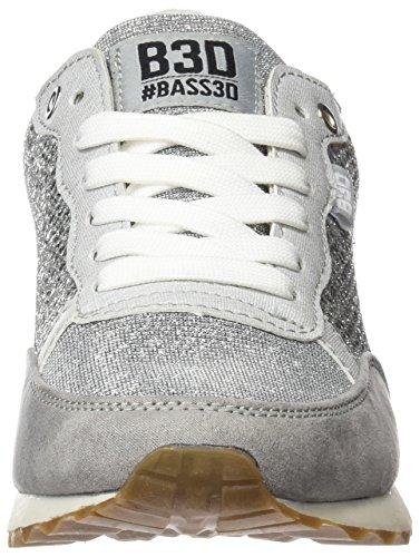 bass3d  041304, Chaussures femme Argenté