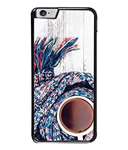 PrintVisa Designer Back Case Cover for Apple iPhone 6S (beautiful scarf over coffee mug white blue cola)