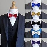 Papillon da uomo, Meersee set di 6 pezzi Cravatta a farfalla Cravatta da Uomo per Smoking Unisex Nozze Festa Cerimonia a Scacchi Scozzese