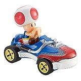 Hot Wheels- Mario Kart Mini-Véhicule Toad Sneeker à l'échelle 1:64, Inspiré par Les Personnages et Voitures du Jeu, Jouet pour Enfant, GBG30, Multicolore