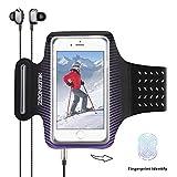 Brazalete deportivo impermeable, transpirable y ajustable con velcro para iPhone 8 Plus, iPhone X, iPhone 7S Plus, iPhone 6 Plus, Galaxy S8 Plus, Samsung Galaxy S5, S6, S7 y la mayoría de teléfonos