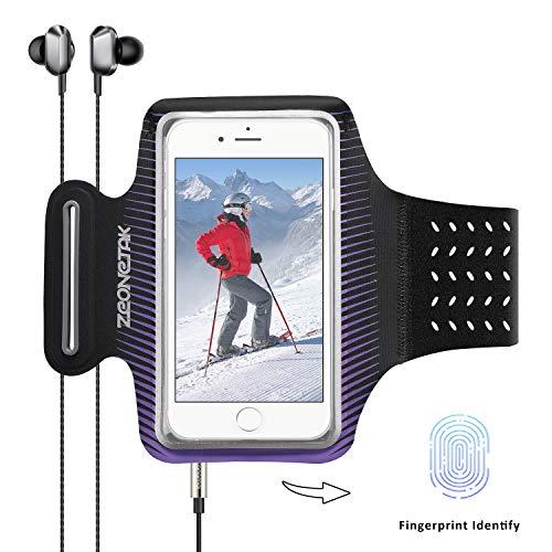 Zeonetak Sport Armband Wasserdicht Reflektierend Breathable Elastic Handytasche für Samsung S8 Plus\\ S8\\ C7 Pro\\ S7\\ S8 \\Note 8\\ C9