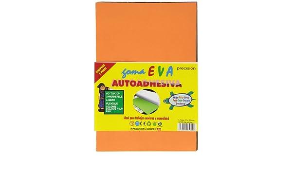 Aurora Store.it 10 FOGLI GOMMA EVA FOAM ADESIVO 21x29.7 cm COLORI VARI 150 GR FOMMY MOOSGUMMY