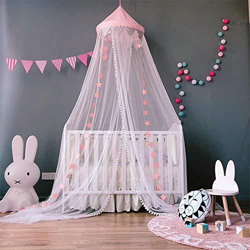 Todaytop Moskitonetz Netze Moskitoschutz für Baby Kid Kinder Betthimmel Bett Prinzessin Spielzelte Schlafzimmer Dekoration Netze Bett Canopy Netting Outdoor Urlaub Reisen,Rosa