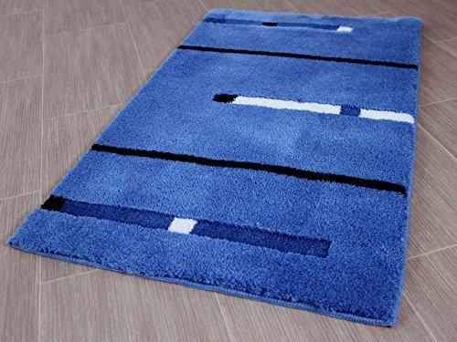 Pacific Badteppich Kabara Blau Streifen in 5 Größen