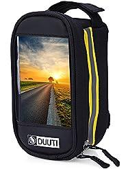 boldion £ ¨ TM £ © DUUTI bicicleta teléfono móvil con pantalla PVC transparente Touchable impermeable reflectante para bicicleta bolsa bolsa de las mujeres/hombres al aire libre bolsa de deporte, amarillo