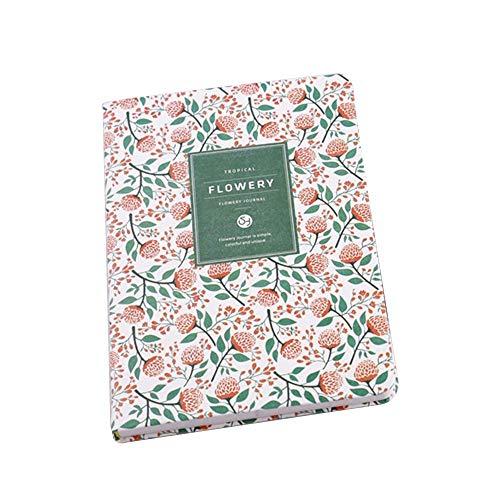 Vektenxi Kleine frische Blumen Persönlichkeit Notebooks Journal Organizer Notizblöcke Ringbuch Tagebuch Notebook Student Schreibwaren rot langlebig und praktisch (Journal Kleines Notebook)