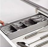 Cubertero vertical gris organizador cajones innovador orden mas espacio en...