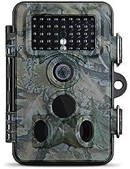 12MP Wildkamera, Vtin 2.4 Zoll LCD, 1080P HD mit 120° Weitwinkel, IP66 Wasserdichte Wild Camo, Low Glow Infrarot Jagdkamera, Jagdzeug, Überwachungskamera für Nacht Vision