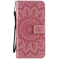 Funda de cuero para Oppo Reno4Pro 5G PU cuero magnético Flip Cover con ranuras para tarjetas Bookstyle Wallet Case para Oppo Reno4Pro 5G - JEKT033152 Rosa