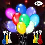 GIGALUMI Leuchtende Luftballons 30 Stück 5 Farben blinken bunt LED Ballons für Hochzeit Weihnachten Geburtstag Luftballon Party Deko