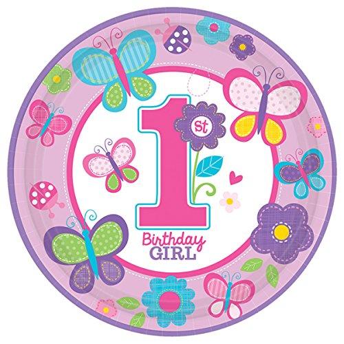 �r ersten ersten Geburtstag, Mädchen, niedlich ()