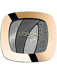 L'Oréal Paris Color Riche Quads Eyeshadow, S11 Fascinating Silver - Lidschatten Palette für ein intensives, sinnliches Farbergebnis - 1er Pack (1 x 2,5g)