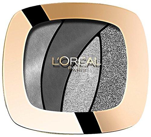 L\'Oréal Paris Color Riche Quads Eyeshadow, S11 Fascinating Silver - Lidschatten Palette für ein intensives, sinnliches Farbergebnis - 1er Pack (1 x 2,5g)