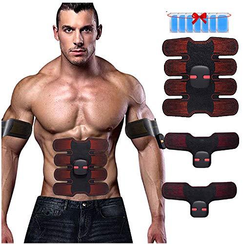 Abs Trainer Muskelstimulator 6 MODI mit 10 STÜCKE Ersatz Gel Pads Elektronische Muskel Toner Bauchmaschine Für Männer Frauen (Muskel-toner Elektronische)