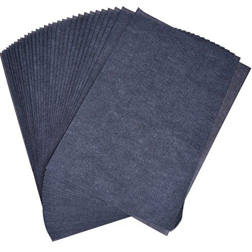 30 Blatt Carbon Transferpapier Kohlepapier Graphitpapier für Holz, Papier, Segeltuch, 8,5 x 11 Zoll