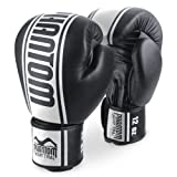 Phantom Boxhandschuhe Muay Thai MT-Pro aus PU-Leder, Schwarz/Weiß, Größe 12 OZ