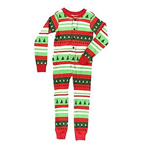 Hzjundasi Erwachsene Flapjacks passende Weihnachten Familie Pyjamas Erwachsene, Kinder und Säugling Nachtwäsche Nachtwäsche (Kindergröße 4T) (Gerippt 4t)