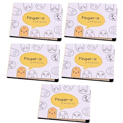 Sharplace 5 Stück Finger Form Haftnotizen Notizblöcke Sticky Marker Bürobedarf für Lesezeichen hohe Qualität Handwerk Papier Klebrig Anmerkungs Fußnote
