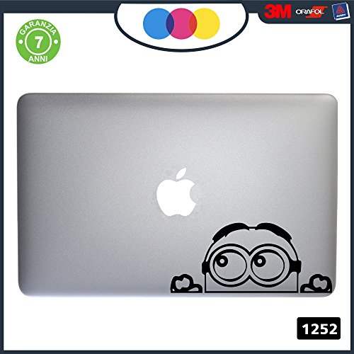 Adhesive Minion Stickers for All Models of Apple MacBook 13-15-17, Black, Stickers Suitable for Any Computer, Not Just Macbooks 1252