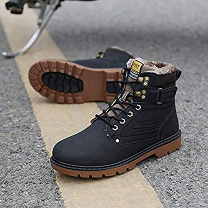 Zapatillas de Hombre de BaZhaHei, Además, Las Botas para Hombre de Invierno Retro de Terciopelo, Antideslizantes, Resistentes al Desgaste para Exteriores, Son Grandes Zapatos para Herramientas