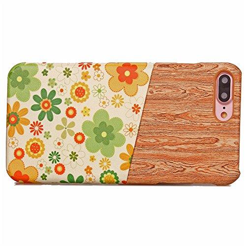 Voguecase® für Apple iPhone 7 4.7 hülle, (Karte/Scale Muster-Lila) Hybrid Hülle Schutzhülle Case Cover + Gratis Universal Eingabestift Kartenslot/grüne Sonnenblume