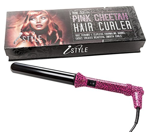 iSTYLE ceramic hair curling wand hair curler 32mm - for...