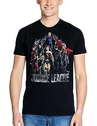 Camiseta del Logotipo Negro de Algodón Liga de La Justicia de DC Comics Elbenwald Masculino de Flash