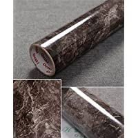 """Yancorp 17.9""""x78.7"""" Marble Contact Paper 1.49ft x 6.56ft Removable Wallpaper Film Self-Adhesive Granite Sticker Kitchen Peel Stick Backsplash Marble Tile Countertop Shelf Liner Small"""