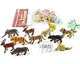 WayOuter 12 Stück Lebensecht Wildtier Figuren aus Kunststoff für Kinder Lernspielzeug Safari Dschungel Tierfiguren Spielzeug Set Realistische Wild Plastic Tier Playset